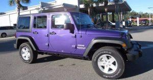 2017 Purple Jeep Wrangler Unlimited | DeLand Hurley Chrysler Jeep Dodge RAM